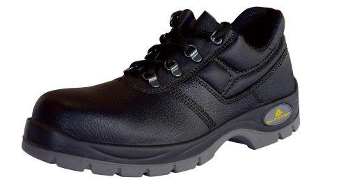Delta Plus Jet (panoply) 2 S1 - para hombre/para mujer - Zapatos de para de trabajo con punta de acero negro (negro)