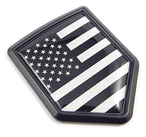 USA Black American Flag Black Shield Emblem Car Bike Decal Crest