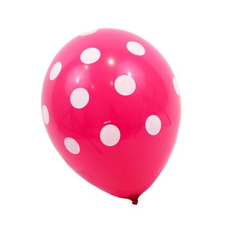 Hot Pink Polka Dot Balloons (10 Pack) - 12 Inch Inflatable Latex Balloons, Bright Pink Princess Birthday / Bachelorette Party Decorations, Polka Dot Girls Pink Wedding (Carnival Themed Backdrop)
