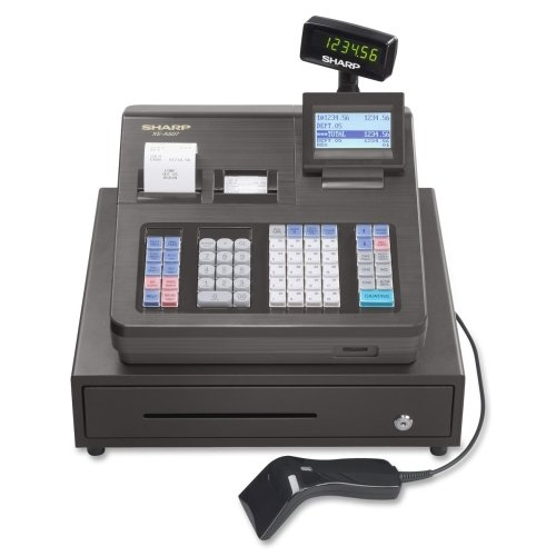 Sharp Cash Register - 7000 PLUs - 40 Clerks - 99 Departments - Thermal Printing - Sharp Xea507
