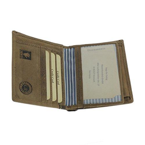 Washed monnaie Tan Greenburry Cuir Vintage Cm 10 Porte BFfxF4awdq