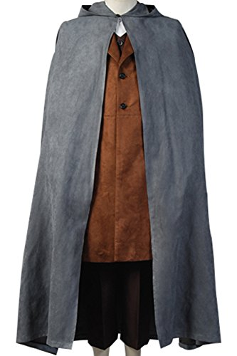 The Lord of the Rings Cosplay Costume Frodo Baggins Halloween Cape Coat Outfit Medium