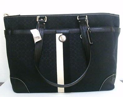 6a2011e7d0 Amazon.com  AUTHENTIC COACH SIGNATURE VOYAGER LARGE DIAPER HANDBAG PURSE  13813 BLACK  Shoes
