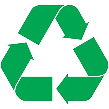 Recycle logo sticker decal notebook car laptop 3 green