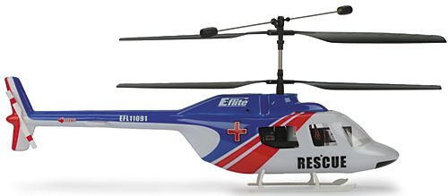 E-Flite JetRanger Body Set, Blue/Red: Blade CX/2/3 ()