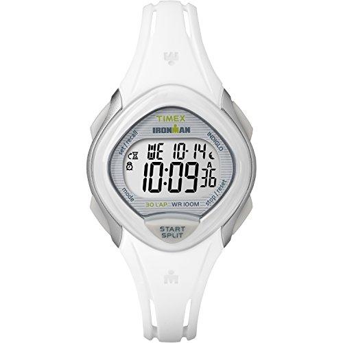 Timex+Women%27s+TW5M12400+Ironman+Sleek+30+White+Resin+Strap+Watch