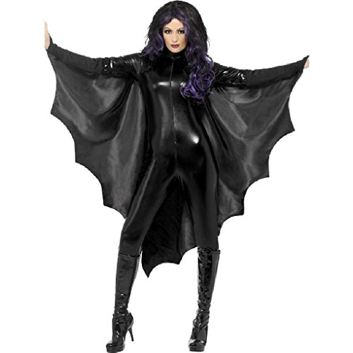[Ponce Black Bat Wings Sexy Costume Finger Mounts Dress] (Michael Jackson Dance Costume)
