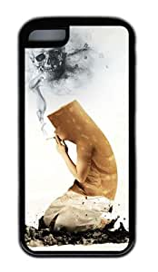meilinF000Artistic Design of Cigarette TPU Material Phone Case Black Skin for iphone 4/4smeilinF000