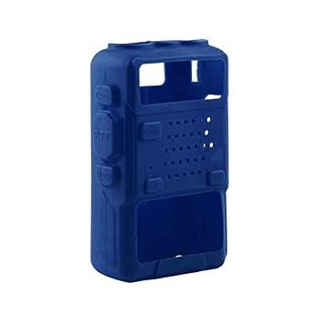 UV-5R Plus//UV-5RE UV-5RC F-blue 5 Colores de Silicona Suave Walkie Talkie Cubierta Protectora para el Baofeng UV-5R F8 UV-5RA