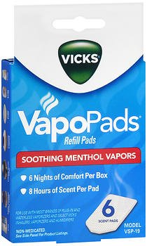 (Vicks VSP19 Soothing Menthol Scent Pads 6 Count)