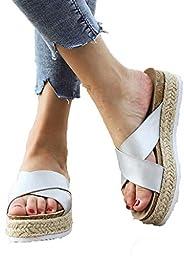 Amlaiworld Women Slipper Sandals Summer Slip-On Bow Flat Beach Open Toe Breathable Sandals Roman Shoes