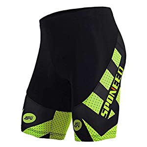 sponeed Men's Road Bike Shorts Triathlon Biking Short Tights Bicycle Riding Bottom Tri Half Pants Asia XXL/US XL Green