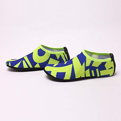 NUWFOR Beach Shoes Water Sports Unisex Water Shoes Barefoot Yoga Socks Diving Barefoot (Blue, 4.5-5 M US length:8.5'') by NUWFOR (Image #5)