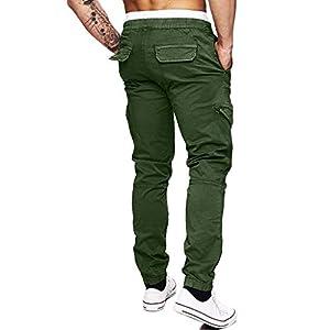 aliveGOT Men'S Cargo Jogger Pants Workout Sweatpants Casual Trousers Elastic Waist Outdoor Working Pants