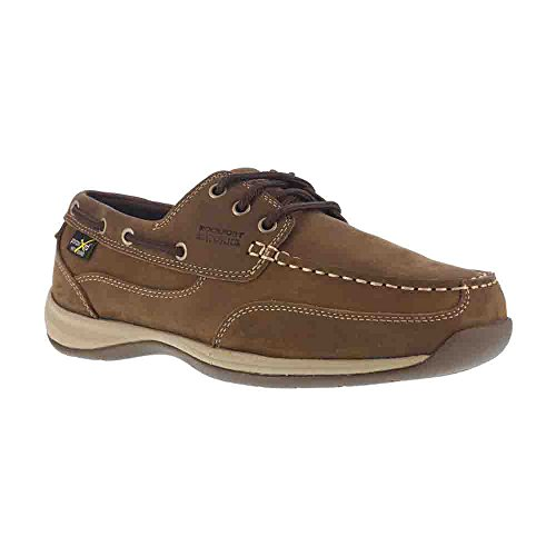 Rockport Work Men's Sailing Club RK6734 Industrial and Construction Shoe, Brown, 9.5 W US by Rockport