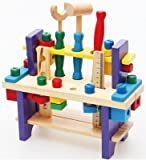 wood and nails toy kit - Wooden toy Tools set Workbench Construction woodworking kit Intellectual education for kids