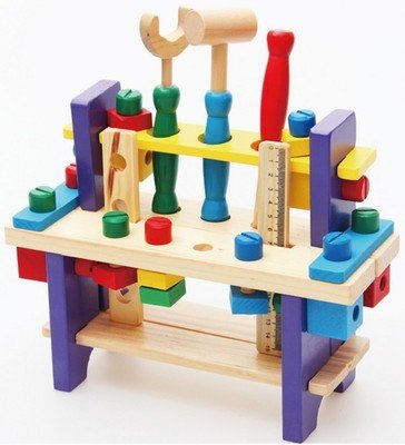 Wooden Toy Tools Set Workshop Kid's Wooden Tool Box Set Intellectual Education for Kids Ltd La133
