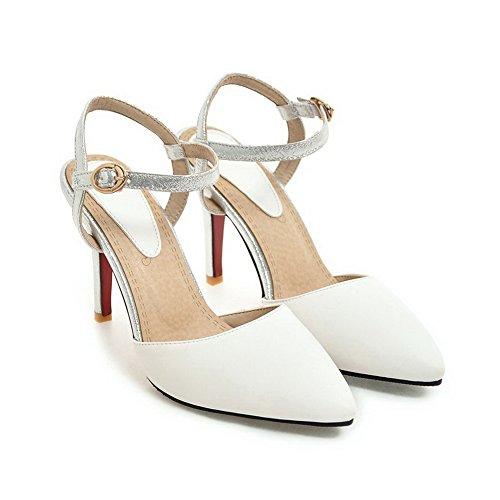 Blanc Blanc 1TO9 Inconnu Sandales EU 5 Femme Compensées 36 nXdIqd