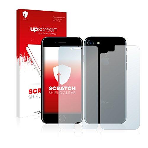 upscreen Scratch Shield Pellicola Protettiva Apple iPhone 7 (Anteriore + Posteriore) Protezione Schermo – Trasparente, Anti-Impronte