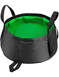 PickUp 15l Outdoor Folding Water Basin Washbasin Camping Fishing Travel Footbath (Grass Green) saleoff