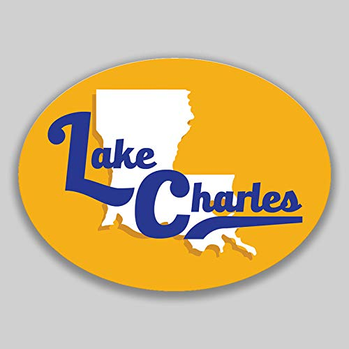 - JMM Industries Lake Charles Louisiana Vinyl Decal Sticker Car Window Bumper 2-Pack 4.5-Inches by 3.5-Inches Premium Quality UV-Protective Laminate PDS1685