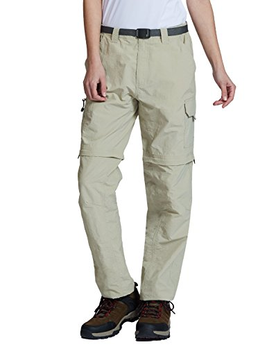 Baleaf Women's Quick Dry Convertible Cargo Pants Water Repellent UPF 50+ Khaki Size S