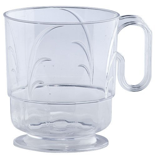 Lillian Signature Collection 40 Count Elegance Coffee Mug, 8-Ounce, Clear Collection Coffee Cup