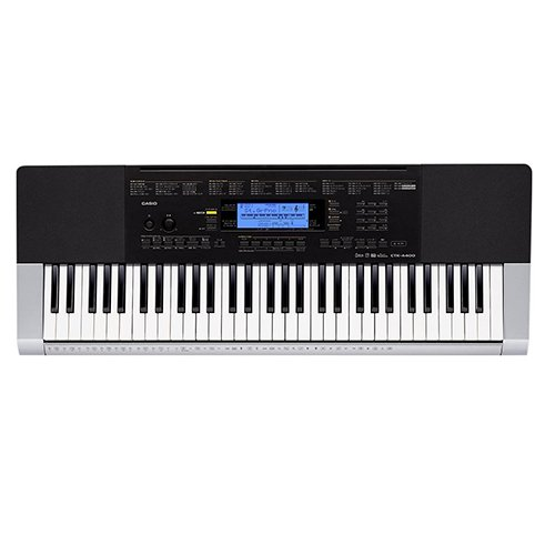 Casio CTK4400 61-Key Touch Sensitive Personal Keyboard Deluxe Package with Casio Keyboard Adapter, Keyboard Stand & The Best of Coldplay Easy Piano Play Along Book