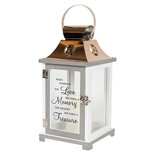 A Memory Becomes a Treasure Flameless Candles Copper Lantern