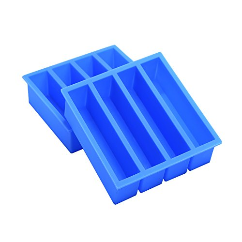 Silicone Ice Cube Tray with Easy Release Ice Cube Molds Collins Ice Tray, Large Ice Stick Cube for Cocktail Whiskey, Also Used for Butter Mold 2 - Blue Whisky Black &