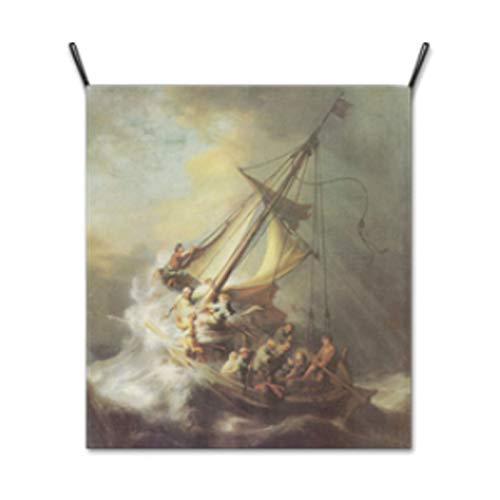 AbundanceHomeDesign The Storm on The Sea of Galilee by Rembrandt/Hanging Poster/Tapestry Wall Hanging/Printed on Premium Fabric/Famous Painting Art Collection - Large 39.37