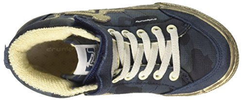 Alto a Boston DrunknMunky Collo Sneaker Blu Camu Navy Blue Bambino R67aqwCx