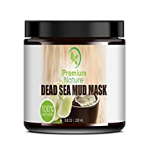 Dead Sea Mud Mask(8.8 oz), Melts Cellulite, Face Mask Treats Acne and Problem Skin, Also Acts as Pore Minimizer and Wrinkle Reducer, By Premium Nature®