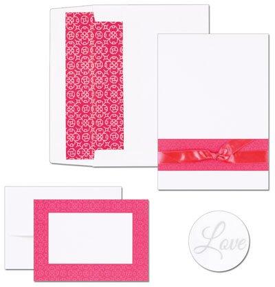 [Fuchsia Band Invitation and Note Card Kit - Quantity of 50] (Fuchsia Band Invitation Kit)