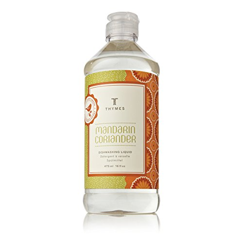 Thymes - Mandarin Coriander Biodegradable Dishwashing Liquid - 16 Fluid Onces