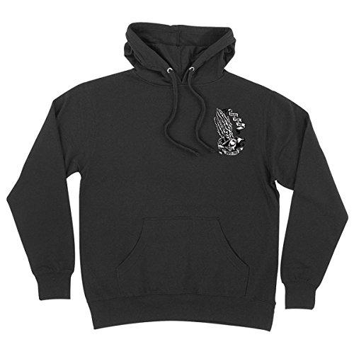 Santa Cruz Mens Mens Bone Guadalupe Hoody Pullover Sweatshirt Medium Black (Santa Hoodie)