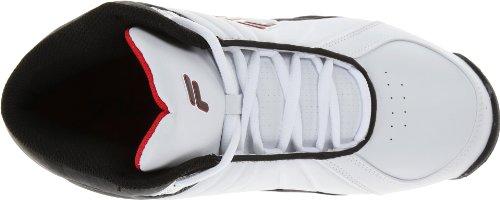 Fila Hommes Laissent Sur Le Terrain 2 Chaussure De Basket Blanc / Noir / Fila Rouge