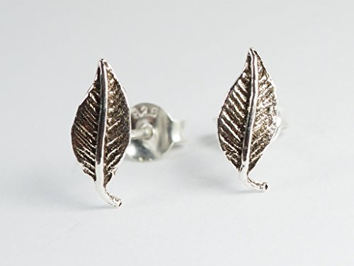 Double Fantasy Cover (925 Sterling Silver Earring Cartilage For Women Ear Stud Helix Leaf 3/8