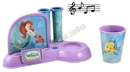 Disney Princess Musical electrónico de Ariel soporte para cepillos de dientes Set