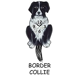 Border Collie wagging tail clock 11