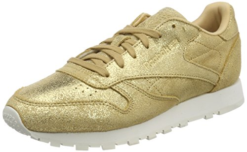 Reebok Classic Leather Shimmer, Zapatillas Para Mujer Amarillo (Gold/chalk Cn0574)