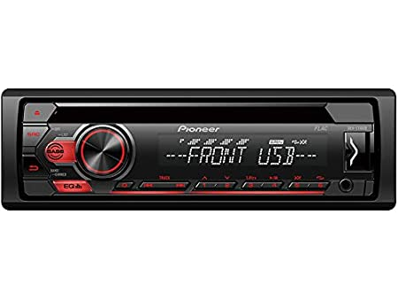 Pioneer DEH-S110UB 1 DIN Autoradio mit CD USB AUX f/ür VW Polo 6R 2009-2014 schwarz inkl Canbus