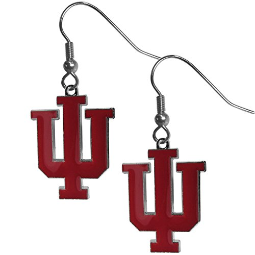 Siskiyou NCAA Indiana Hoosiers Chrome Dangle Earrings