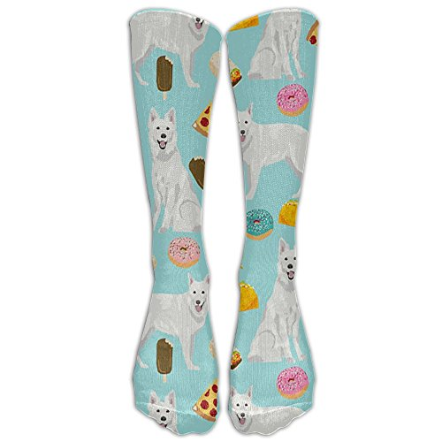 (TAGSB White German Shepherd Compression Socks Soccer Socks High Socks Long Socks For Running,Medical,Athletic,Edema,Diabetic,Varicose Veins,Travel,Pregnancy,Shin Splints,Nursing.)