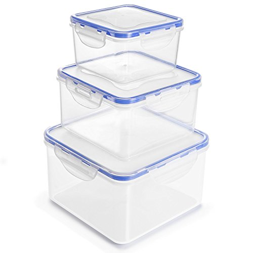 Food Storage Containers with Lids - 3 Pack Airt...
