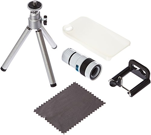 BestDealUSA 8X Telescope Camera Lens with Stand Tripod for iPhone 4 4S White by Neewer