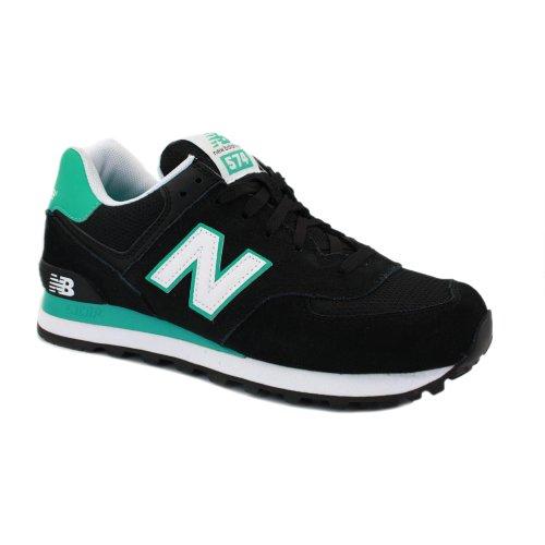 New Balance 574 WL574CPR Zapatillas Deportivas de Ante y Malla para Mujer Negras y Verdes - 41?