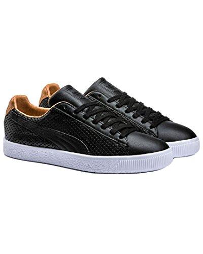 PUMA Select Herren Clyde Colorblock Leder Sneakers Puma Schwarz / Puma Schwarz