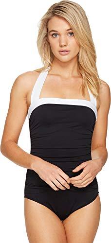 Lauren Ralph Lauren Women's Bel Aire Bandeau Mio One-Piece Black Swimsuit