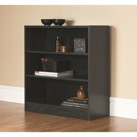 Orion Wide 3-Shelf Bookcase (black)